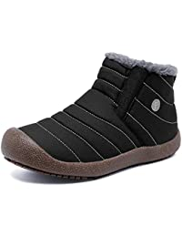 FANTINY スノーシューズ レディース メンズ 防水 防寒 防滑の綿靴 雪靴 通学 通勤用 メンズシューズ ブーツ