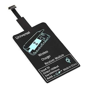 無線ワイヤレス充電 チャージャー アダプタ Androidスマートフォン用 Qi対応Micro USB 無線充電アンテナモジュールパッチ 急速充電  軽量小型アダプター 出力1000mA
