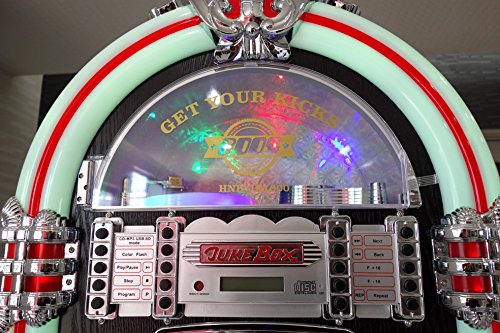 JUKE BOX風 大型音楽プレイヤー(CDプレイヤー/FMラジオ/USBフラッシュ/SDカード/外部入力φ3.5mm)