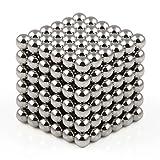 OMO Magnetics 【世界最強マグネット】 強力マグネット 強力磁石 立体パズル ボール 直径3mm N42 ネオジム ネオジウム ニッケルメッキ 専用ケース付き 216個セット(灰色)