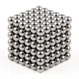OMO Magnetics マグネットボール 強力磁石立体パズル 216個セット 3mm ネオジム ニッケルメッキ 保管ケース付き 脳開発知恵玩具 教育工具 DIY工具 3色選択可能(灰色)