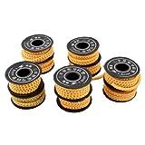 コンバース サイズ uxcell ケーブルマーカー 番号0-9プリント オレンジ 軟質PVC 1.5mm2ワイヤ 10個入り