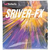 バタフライ Butterfly 卓球ラケット用ラバー スレイバー・FX 05060 裏ソフト ブラック 中(1.5 - 1.8mm)