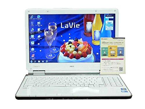 NEC ノートパソコン Windows7 中古パソコン ノート 本体 Kingsoft Office付き Core i3 DVD 4GB/500GB LL550/W ホワイト テンキー