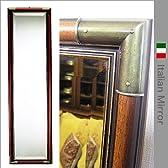 輸入雑貨:イタリア製 姿見ミラー:コーナー飾り付き