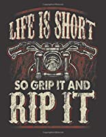 """2020 Motorcycle Calendar and Planner For Bikers: Life Is Short Grip It Rip It Mens Biker Motorcycle Dad 