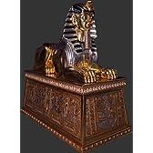 古代エジプト・黄金スフィンクス台座付C ビッグフィギュア(等身大フィギュア)