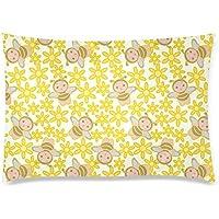 可愛い 子供 花とミツバチ 座布団 50cm×72cm可愛い 子供 花とミツバチ 座布団 50cm×72cm
