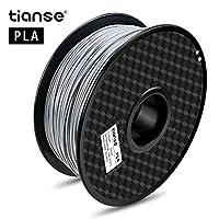 (Silver) - TIANSE Silver PLA 3D Printer Filament 1.75mm 1KG Spool Filament for 3D Printing, Dimensional Accuracy +/- 0.03 mm