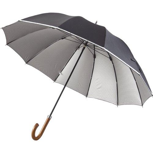 トロイ・ブロス◇メンズ晴雨兼用12本骨長傘 裏コーティング加工 ブラック☆714069