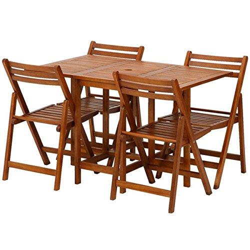 不二貿易 バタフライテーブル&チェア 5点セット ナチュラル...