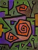 ¥5K-200k 手書き-キャンバスの油絵 - 美術大学の先生直筆 - 6 名画 - Heroic Roses Paul Klee 抽象画 - 絵画 洋画 手描複製画 -07