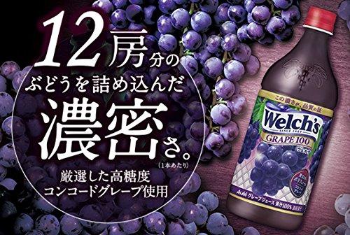 アサヒ飲料 Welch's(ウェルチ) グレープ100 800g×8本