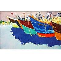 Ansyny 3D壁紙カスタム壁画不織布写真カラフルな帆船ビュー装飾絵画3D壁壁画壁紙For 3D-360X250CM