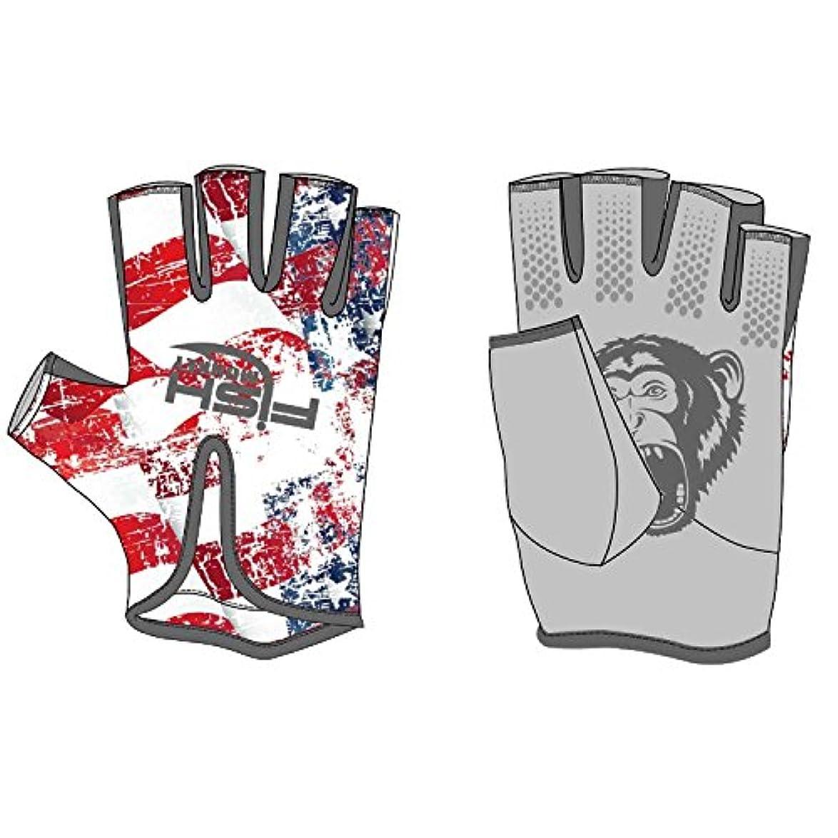苦悩第三レキシコン(Large, Americana) - Fish Monkey Stubby Guide UV Sun Glove