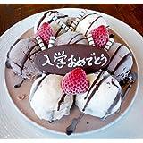 バースデーアイスケーキ チョコver 5号【誕生日プレートが選べる★3種類】 (無地プレート)