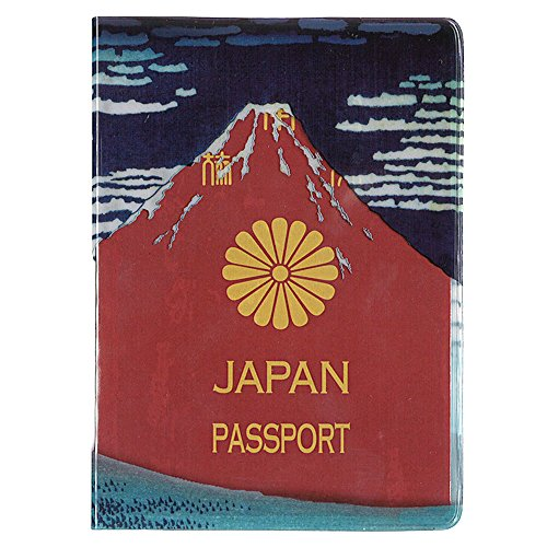 北斎 赤富士パスポートカバー