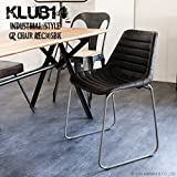 KLUB14 インダストリアル家具 椅子 チェアー レザー 革皮 ゴートレザー アンティーク インテリア REC305BK