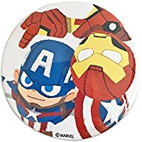 マーベル 缶バッチ φ7.5cm Captain America&Iron Man SPTB573