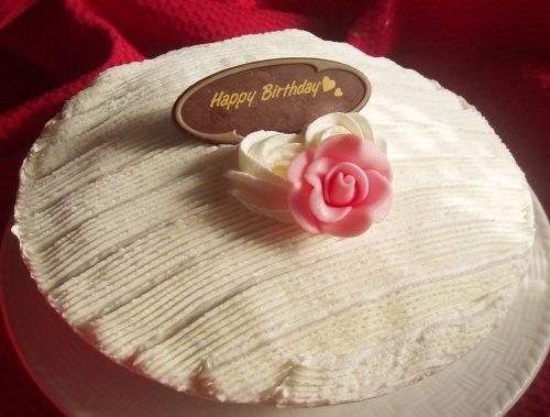 特製・手作りタルトdeレアチーズアイスケーキ 5号【チョコプレートが選べる★3種類】 (Happy Birthday)