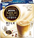 スティックコーヒー ネスカフェ  ゴールドブレンド コク深ラテ ミルク 26p×3箱