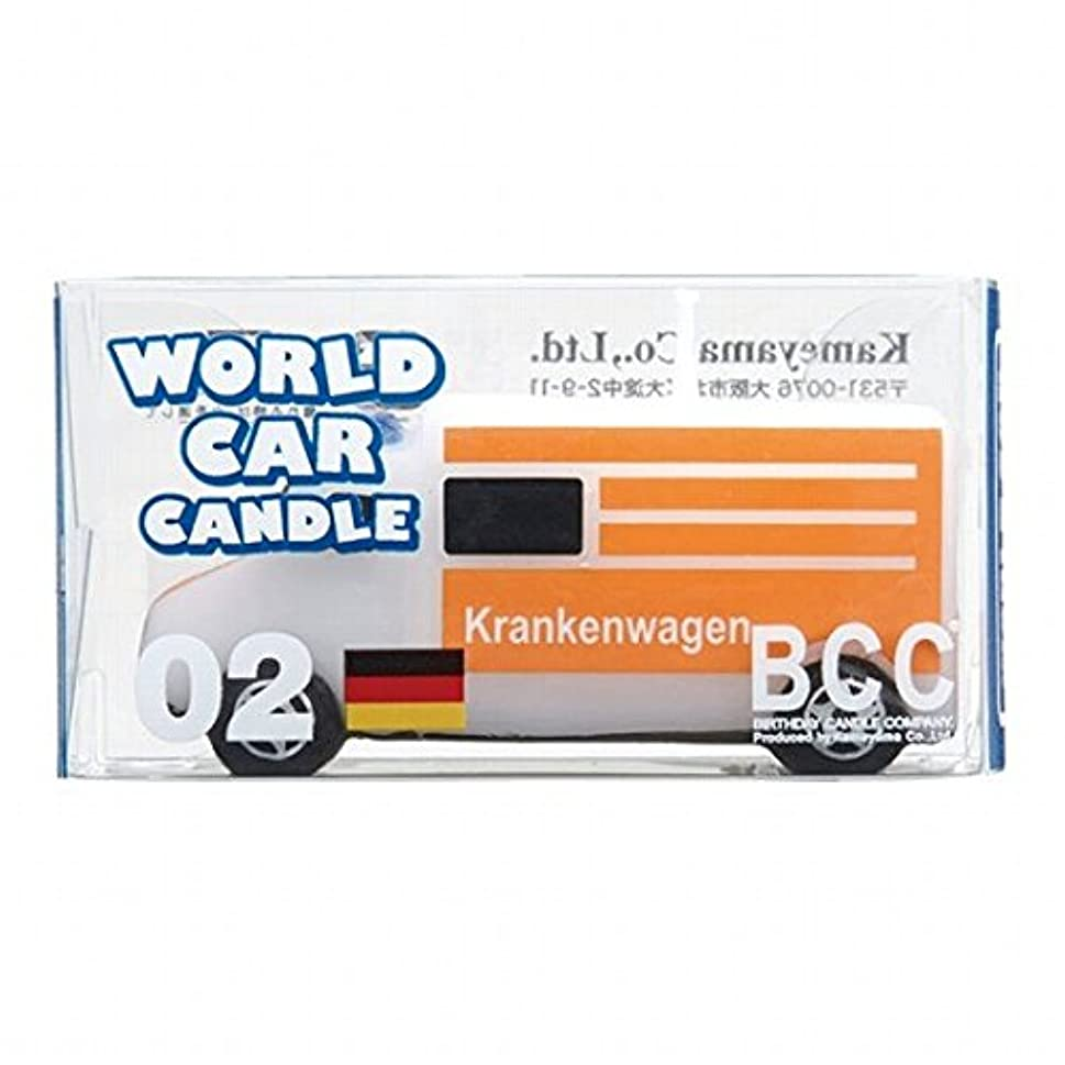 評価可能ライン反乱カメヤマキャンドル( kameyama candle ) ワールドカーキャンドル救急車(ドイツ)