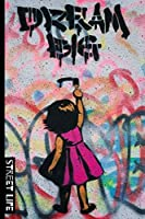 Street Life: School Subject Notebook, 6x9 120 page lined paperback notebook. - Graffitti style street art / murals perfect for the trendy teenager