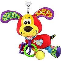 ブランドベッドベビーカーHanging 37 cm犬ぬいぐるみ振動玩具ラトルTeether新生児赤ちゃんギフト多機能教育Mamaストアで