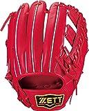 ZETT(ゼット) 硬式野球 グラブ (グローブ) プロステイタス セカンド・ショート用 右投げ用 ディープオレンジ (5800) サイズ:3 日本製 専用グラブ袋付き BPROG361