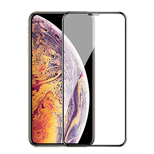 IPhone XS MAX ガラスフィルム ISTORA旭硝子 3D全面 指紋防止 9H硬度 気泡防止 ブルーライトカット 3D touch対応 強化ガラスタイプ 高精細 反射低減 高透過率