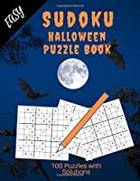 Easy Sudoku Puzzle Book: Halloween Design Sudoku for Beginners / Large 8.5 x 11 inches