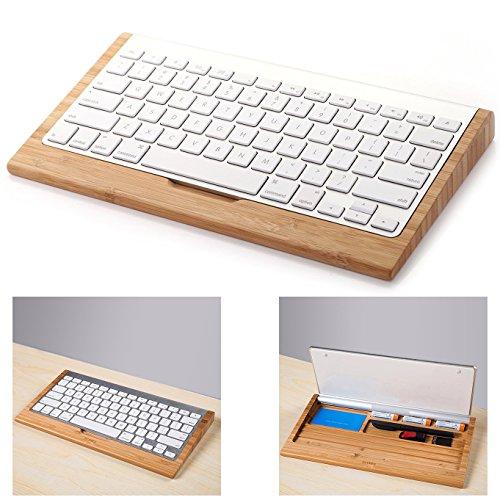 Itian 竹キーボード スタンド バンブー 竹製 パソコン周辺グッズ 机上整理など 小物収納