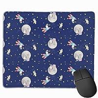 星はコンピュータのラップトップの家およびオフィスのためのマウスパッドの滑り止めの習慣を呼んでいる9.8 x 11.8インチ