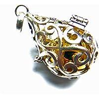 RainbowSpirit[Silver925]ドロップ型のガムランボール/シルバーペンダント(オープンタイプ)