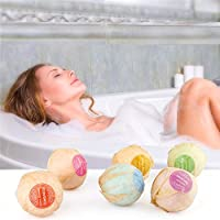 6PC Organic Bath Bombs Gift Set Bubble Bath Salts Ball Handmade SPA Skim Improvement Fizzies Essential Oil Added Stress Relief Gifts Idea by DMZing