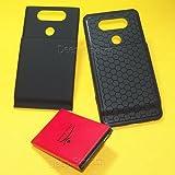[LG V20 拡張バッテリー] ハイパワー 10900mAh 拡張ダブルレイヤー バッテリー 厚い バックカバー ソフト TPU ケース LG V20 US996 電話用