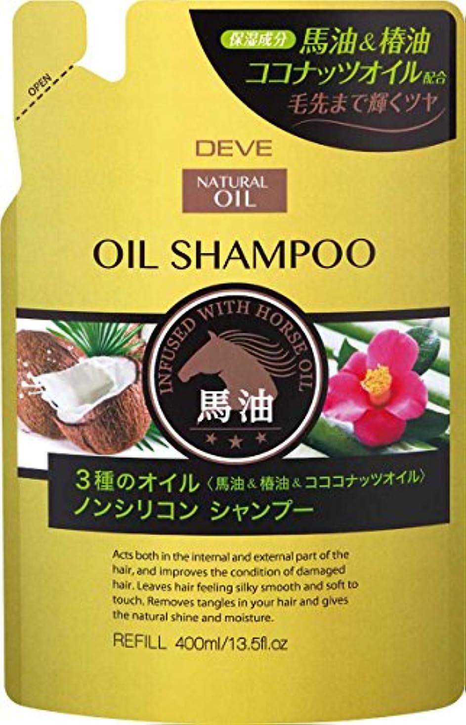 呼吸静脈苦行熊野油脂 ディブ 3種のオイルシャンプー(馬油?椿油?ココナッツオイル)400ml