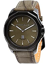 [ペリー・エリス]Perry Ellis 腕時計 DECAGON(デカゴン) クォーツ 46 mmケース 本革バンド 05008-01 メンズ 【正規輸入品】