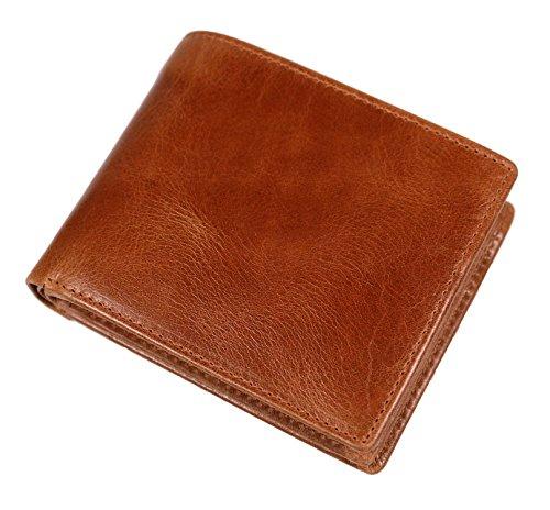 プラスエイチ(Plus H) 財布 二つ折り財布 メンズ 革 小銭入れ付き PH7990 (ブラウン(オイルプルアップレザー))