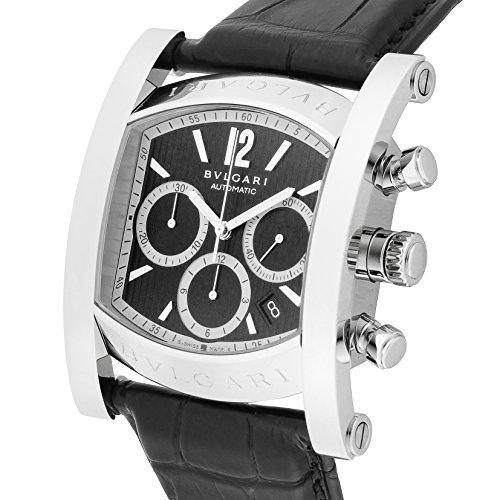 [ブルガリ]BVLGARI 腕時計 アショーマ ブラック文字盤  アリゲーター革ベルト 自動巻 クロノグラフ デイト AA48BSLDCH メンズ 【並行輸入品】