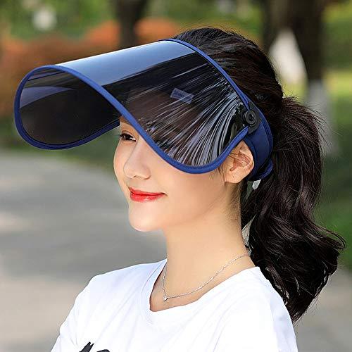 66c488ca09c41 サンバイザー LightYou レディース レインハット 360°可動式 帽子 レインバイザー 自転車 キャップ UVカット