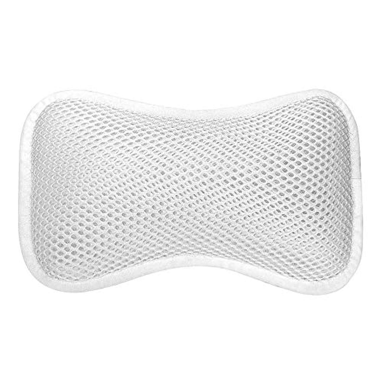 明確なコンパニオン公然と3D網の骨の定形バスタブの枕、吸盤が付いている人間工学的の設計滑り止??めの浴槽の枕