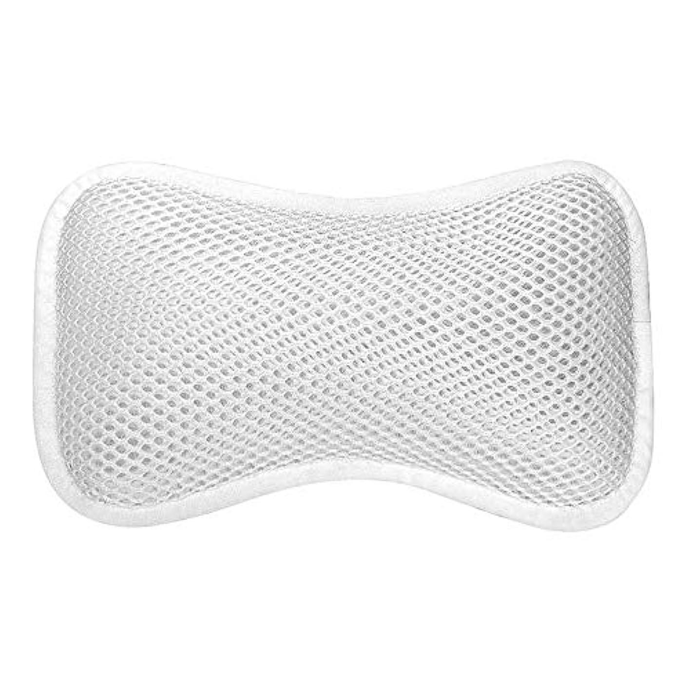ブレース麦芽机3D網の骨の定形バスタブの枕、吸盤が付いている人間工学的の設計滑り止??めの浴槽の枕