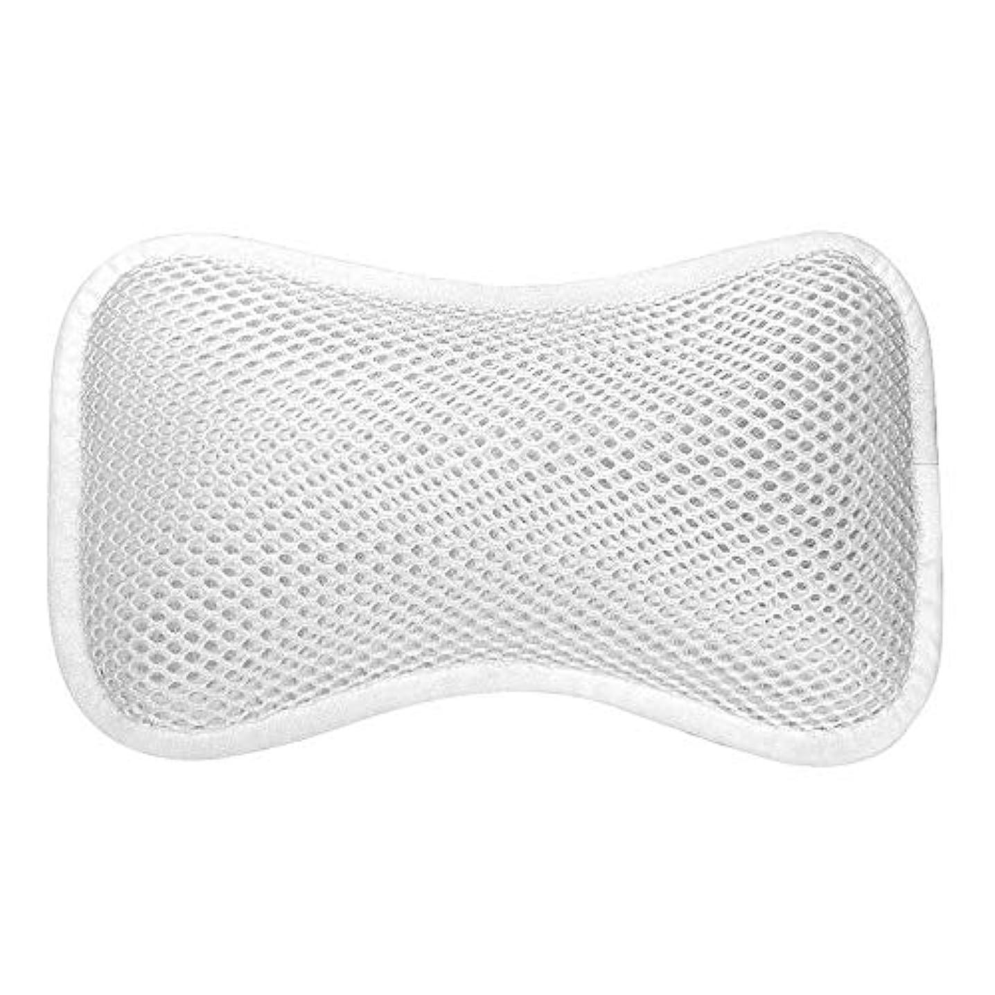 鼓舞する水分プロトタイプ3D網の骨の定形バスタブの枕、吸盤が付いている人間工学的の設計滑り止??めの浴槽の枕