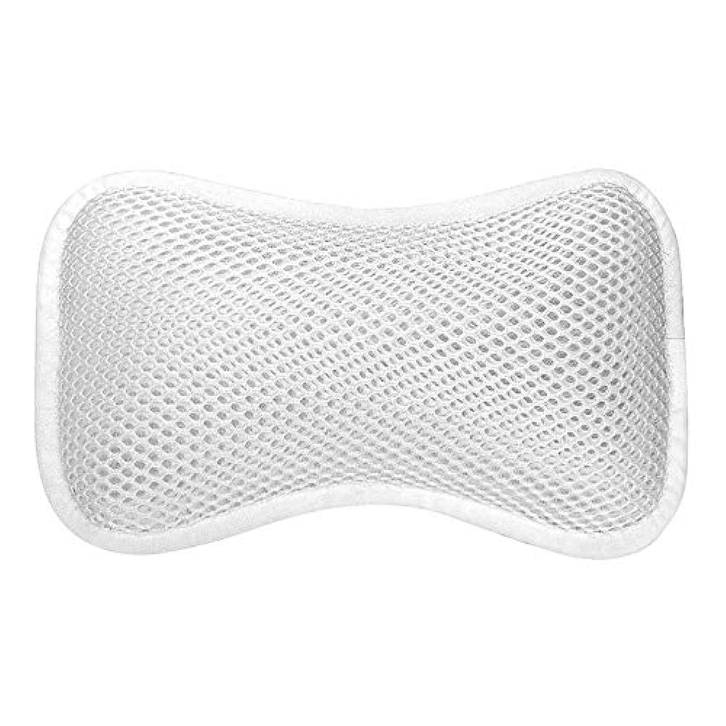 アトム活性化ターミナル3D網の骨の定形バスタブの枕、吸盤が付いている人間工学的の設計滑り止??めの浴槽の枕