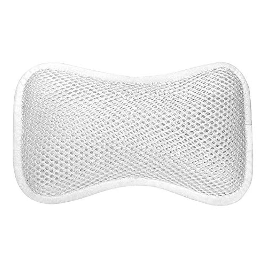 と透ける吐き出す3D網の骨の定形バスタブの枕、吸盤が付いている人間工学的の設計滑り止??めの浴槽の枕
