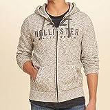 ホリスター HOLLISTER 正規品 メンズ ジップアップパーカー Textured Logo Graphic Hoodie 322-226-0033-112 M 並行輸入品 (コード:4116130302-3)