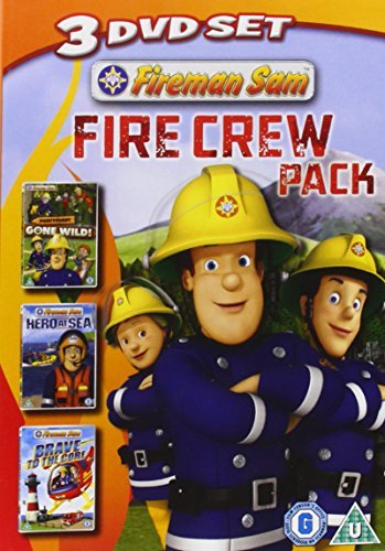 Fireman Sam: Fire Crew Pack (Pontypandy Gone Wild/Hero At Sea/Brave To The Core) [DVD]