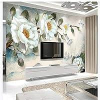 Mingld カスタム壁紙絵画牡丹の花ヨーロッパの背景壁家の装飾アート-400X280Cm