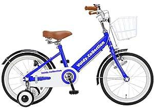 voldy(ボルディ) チビボルディー 子供用自転車 16インチ 18インチ 三輪車 【泥除け付き カゴ付き こま付き】 男の子 女の子 VO-16KB (ブルー, 16)